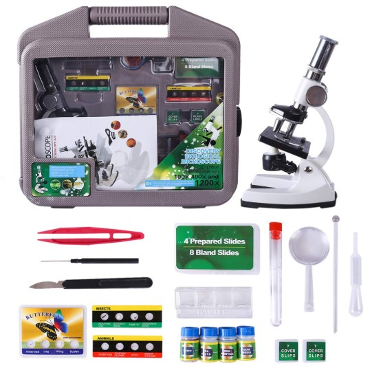 Comprar iVansa Microscopios Infantiles 1200x, Microscopio de la Ciencia para Niños