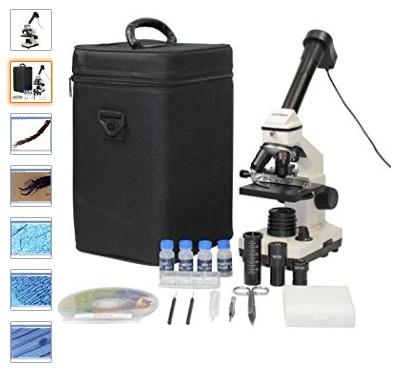 Comprar Omegon MicroStar, microscopio con Factor de Aumento de 20-1280, iluminación LED, Ocular para PC y Juego de Accesorios